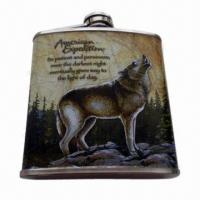 China Hip Flask with Capacity of 1 to 64oz, Made of Stainless Steel, Logos Can be Engraved on sale