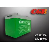 CB121000 12v sla battery 100AH , Green slim deep cycle battery Plastic Manufactures