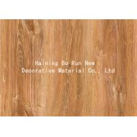 MDF Skirting Board Cover Wood Grain Film Brown Color 500 Meters / Roll Manufactures