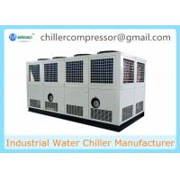 Siemens PLC Control 100 tons Air Cooled Screw Water Chiller with Variable Water Pumps Manufactures