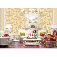 Fashion Flower Embossed Wall Covering Italy Style Embossed Floral Wallpaper Manufactures