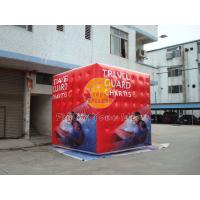 Quality 3.5m attractive filled cube balloon with four sides digital printing for for sale