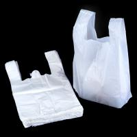 China White 100 Biodegradable Plastic Bags , T Shirt Shape Compostable Shopping Bags on sale