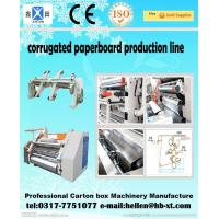 Two Ply Corrugated Carton Packing Machine with Single Facer Production Line , 1600mm Manufactures