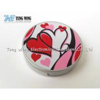 Logo Printing Pocket Makeup Mirror Cosmetic Mirror With Sound for sale