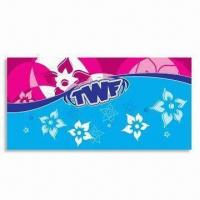 Promotional Beach Towel, Made of 100% Cotton, Customized Printing are Accepted, Measures 75x 150cm Manufactures