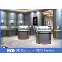 3D Design Store Jewelry Display Cases In Custom Size Logo / Jewellery Shop Furniture Manufactures
