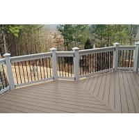 Waterproof WPC Decking Flooring Eco-friendly For Walk Road Manufactures