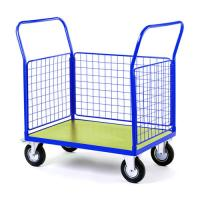 China Steel Wire Shipping Containers Trolley For Supermarket Medium Duty on sale