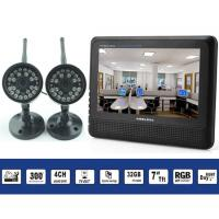 China Motion Detection 4 CH Wireless Dvr Security Camera System With Full Color LCD Monitor on sale