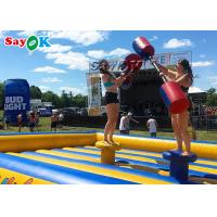 China Double Stitching Kids Inflatable Fighting Arena Inflatable Gladiator Jousting Game on sale