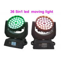 Quality DMX RGBW 36 x 10w LED Moving Head Light For Concert / Theatre Stage Lighting for sale