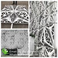 Aluminum decorative cnc cutting perforated panel sheet for facade curtain wall, screen Manufactures