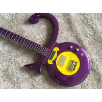 China Custom guitar shop prince guitar Purple color boat anchor electric guitar with golden hardwares plastic pickguard on sale