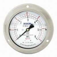 China Liquid-filled Pressure Gauge, Various Sizes are Available on sale