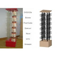 96 Pockets Floor Spinner Display Rack , Top Graphict Greeting Card Spinner Stands Manufactures