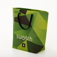 China Green Luxury Custom Printed Packaging Bags , Paper Bags With Company Logo on sale