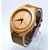 Custom leather strap watches for men with stainless steel case back