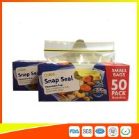 Small Transparent Zip Up Reusable Snack And Sandwich Bags 15 * 9cm Manufactures