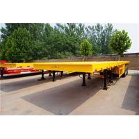 3 axles 40 ft 60ft extendable flatbed truck trailer for sale Manufactures