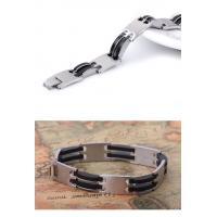 Quality Fashion mens jewelry men bracelet stainless steel Silicon bracelets jewelry wholesale for sale