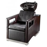 Luxury Salon Shampoo Chairs With Cushion Headrest , Electric Footrest Manufactures