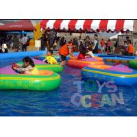 China Floating Battery Swimming Pool Bumper Boats Kids Inflatable Water Toys 0.65mm PVC on sale