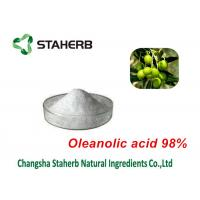 Quality Olea Europaea Leaf Herbal Extract Powder , Organic Plant Extracts Oleanolic Acid for sale