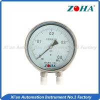 China Differential Stainless Steel Pressure Gauge Connect With Triple Valve Group on sale