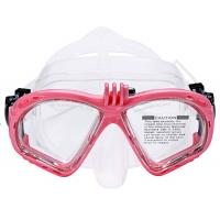 Adult Durable Scuba Tempered Glass Diving Masks With Clear Lens Multi Colors Manufactures