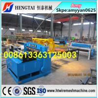 China PLC Control High Speed Welded Wire Mesh Panel Machine+WIre Mesh Cutting Machine CE&ISO9001 Factory on sale