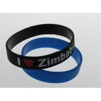 black two colors filled custom silicone wristband debossed and painted bracelet Manufactures