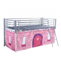 China Powder Coating Double Bunk 2000*900*1500mm Metal Frame Loft Bed on sale