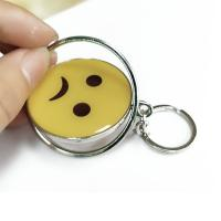 Smiling Face Custom Logo Keychains Yellow Circle With Eco-friendly Metal Manufactures
