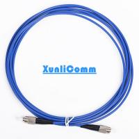 Blue Color Armored Fiber Optic Cable Single Mode FC - FC Highly Security Manufactures
