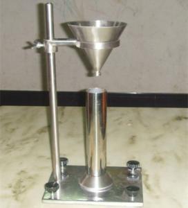 China Aluminium Oxide Gypsum Loose Bulk Density Test Apparatus Without Vibration on sale