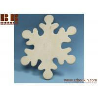 Unfinished Wood Snowflake Cutout Christmas tree ornaments Holidays Gift Ornament Manufactures