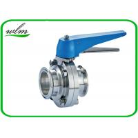 China Multiple Position Sanitary Manual Butterfly Valves with Plastic Gripper Handle on sale