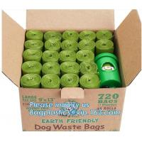 China pet poop bag dog waste bag with dispenser, 20 Bags Per Roll Hot Selling Pet Cleaning Products Dog Poop Waste Bags, bagea on sale