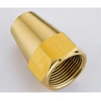 Buy cheap Hose Barb Female Hexagon Brass Compression Fittings / Compression Fitting Nut, Nickel Plated from wholesalers