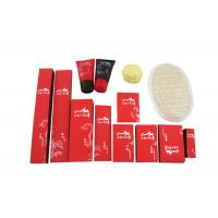 Disposable Hotel Amenities Set , Hotel Room Amenities Red Black Color 14 Items Manufactures