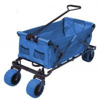 China Outdoor Durable Collapsible Folding Wagon Big Capacity Folding Beach Cart on sale