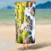 250 Gsm Digital Print Terry Personalized Beach Towels With No Color Limit Manufactures