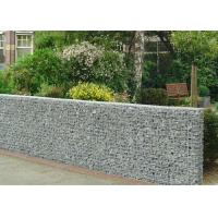Heavy Zinc Coated Galvanized Wall Basket Square Hole Shape For Gardens / Parks Manufactures