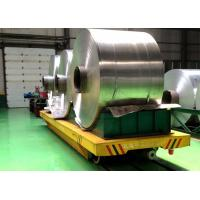 Electric rail transfer carts cylinder handling equipment steel coil rail car for Factory heavy goods Manufactures