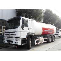 HOWO 6x4 10 Wheel Bobtail LPG Truck 20M3  20000L For Filling LPG Gas Cylinders Manufactures