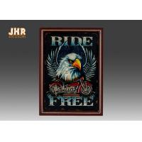 Resin Motorcycle Wall Decor Wooden Wall Plaques Vertical MDF Framed Wall Signs Pub Sign Manufactures