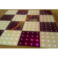 China Stage 60x60cm 8W LED  Starlit  Dance Floor  DMX 512  Aluminum Panel DJ Lighting RGB Color on sale