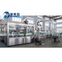 China Screw Cap Carbonated Soft Drink Plant / Carbonated Drink Bottling Machine on sale