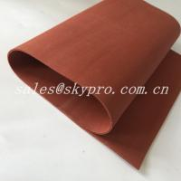 Red / Transparent Soft Flexible Silicone Rubber Foam Sheet Thickness 0.1-30mm Manufactures